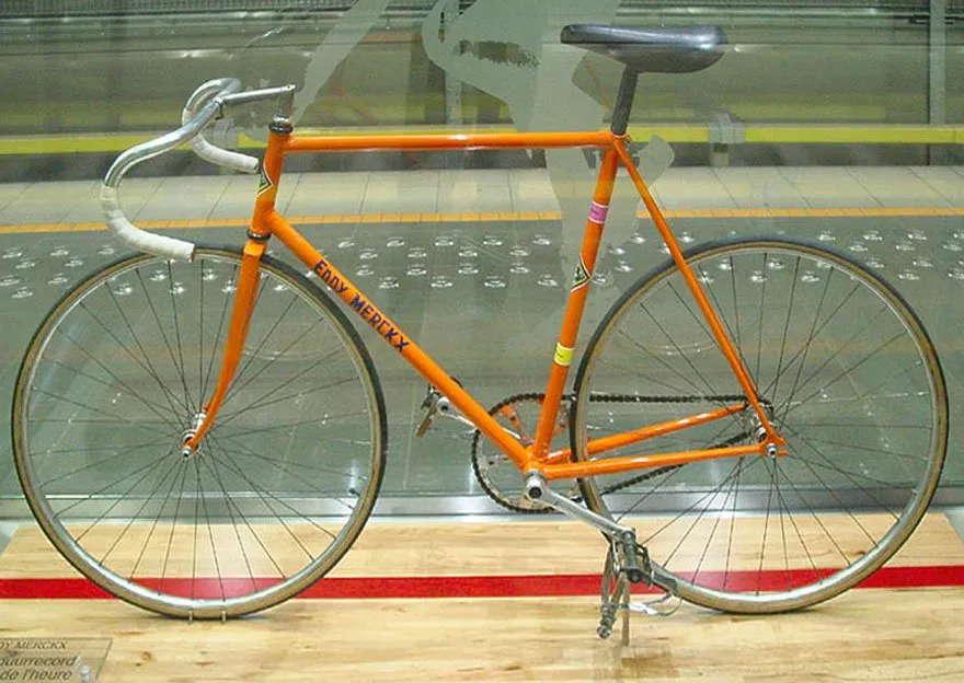Bahnrad von Eddy Merckx (Stundenweltrekord 28.10.72)