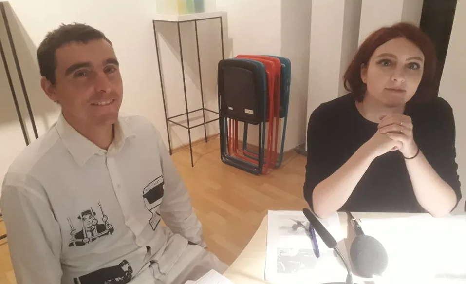 Jonas Bokelmann und Slata Roschal