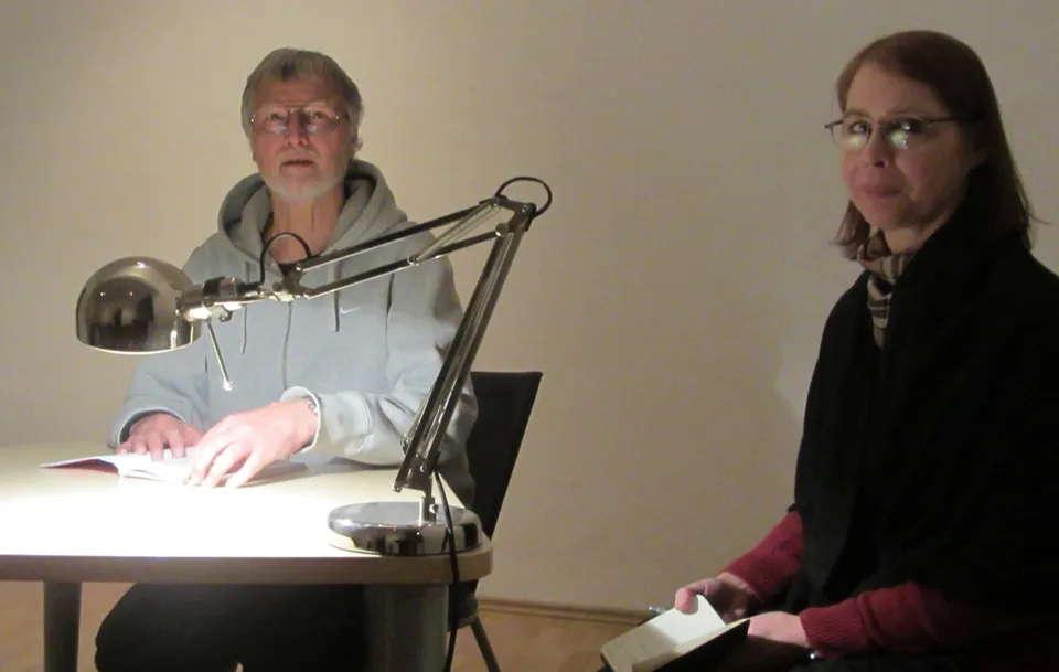 Paul Holzreiter mit Moderatorin Beate Weinkauf