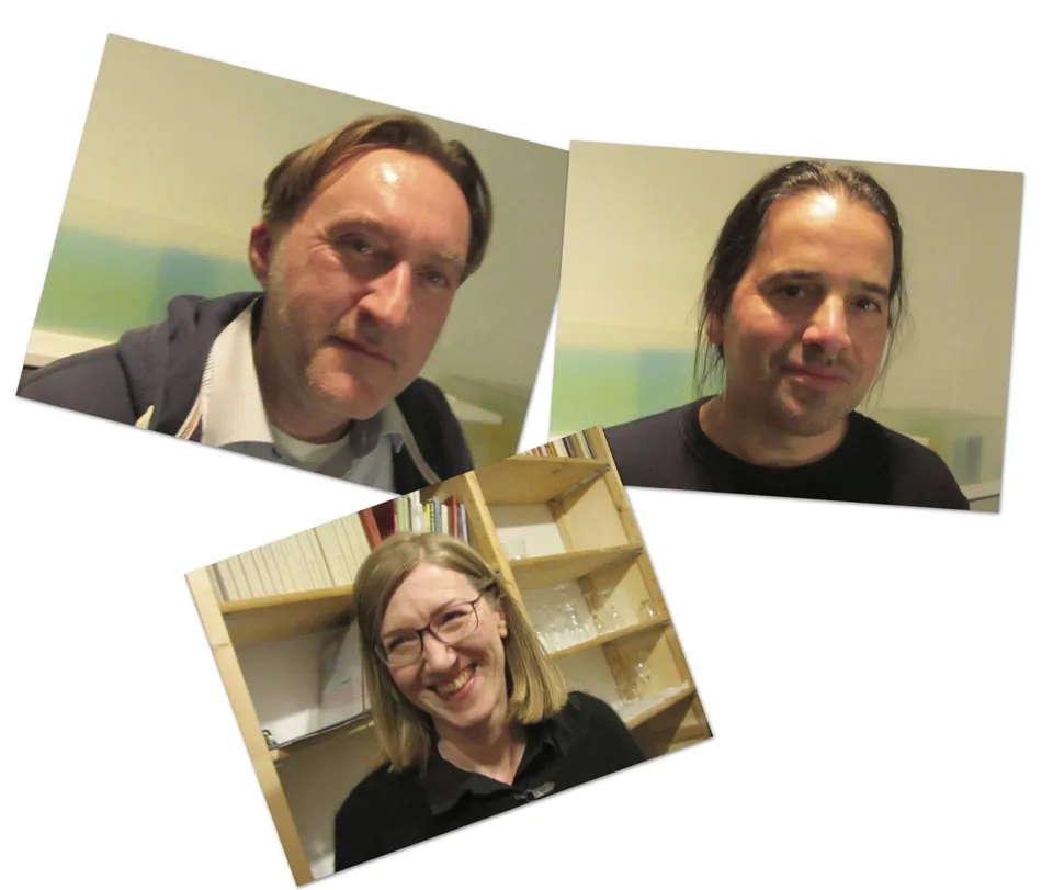 Von links: Rolf Karl Siegmann, Elvira Steppacher und Nikolai Vogel