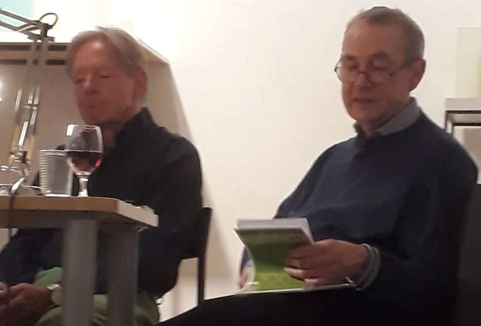 Moderator Bernd Zabel und Tiny Stricker