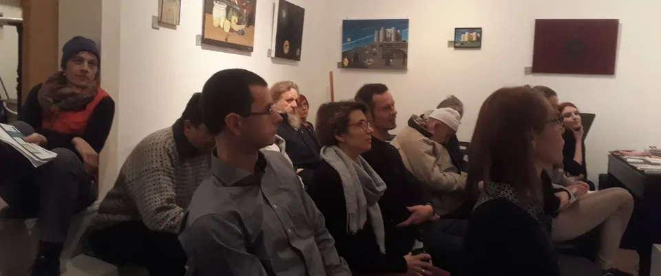 Zuhörer während der Lesung